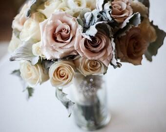 Flower Rose Wedding Elegant Bouquet Art Print Wall Decor Image - Unframed Poster