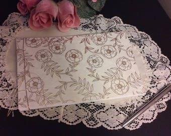 Wedding Guest Book Album - Gold Rose