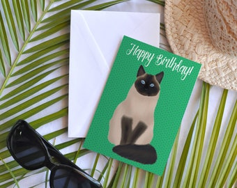 Card - Happy birthday cat (Tojo)