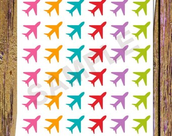 36 Plane Planner Stickers Plane Stickers Airplane Stickers Travel Stickers Vacation Stickers Planning Stickers Icon Functional Stickers A51