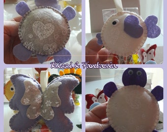 Thoughts of End Party: 4 stuffed animals in felt and Pannolenci