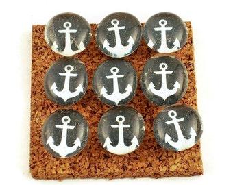 Funky Push Pins Memo Board Pins Nautical Bulletin Board Pins  in Anchors Away   (P14)