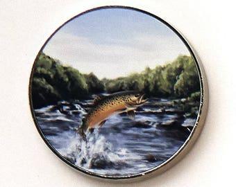 Brown Trout Fridge Magnet