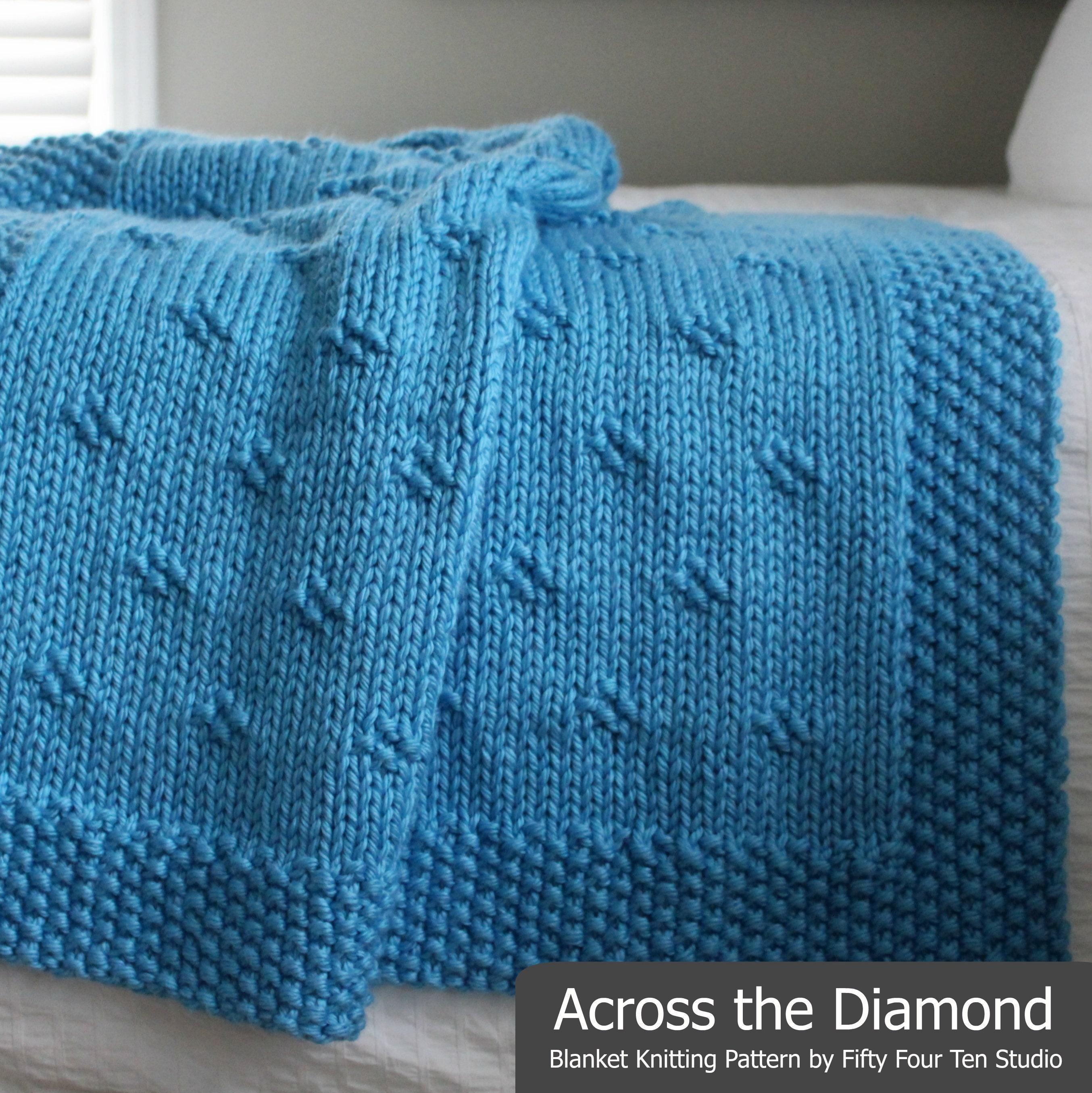 Blanket KNITTING PATTERN / Across the Diamond / Throw / Afghan ...
