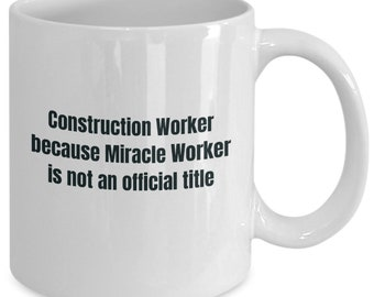 Construction worker gifts coffee travel cup mug gift men women