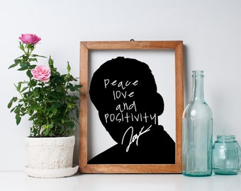 "Logic ""Peace Love and Positivity"" Art Print"