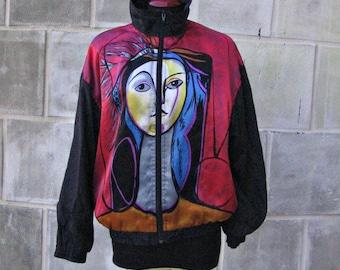 80s 90s Bomber Jacket/Picasso jacket