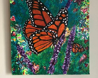 monarch butterfly, monarch, butterfly painting, monarch butterfly art, monarch painting, butterflies, art, painting, butterfly