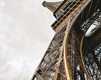 Eiffel Tower at Angle-Fine Art Photography,Paris,France,multiple sizes available,Architecture,Landscape,Parisian,Travel,Color,Sky