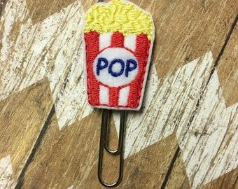 Popcorn Planner Clip, Bookmark, Page Clip, Paper Clip, Planner Accessories