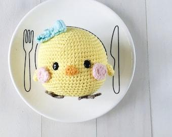Piyoko-chan the chubby chick amigurumi crochet pattern by amigurumei