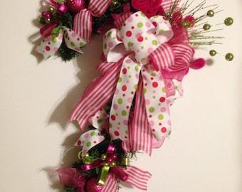 Christmas Candy Cane Door Hanger