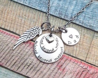 Loved Beyond Words, Remembrance Necklace, Loss of a child, friend or family, Memorial Jewelry, Personalized Jewelry, Remembrance Necklace