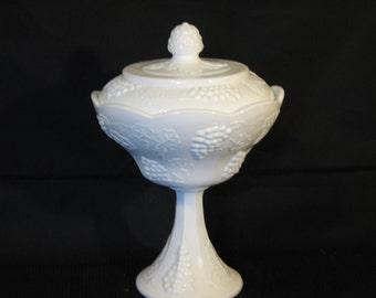 Milk Glass Candy Dish,
