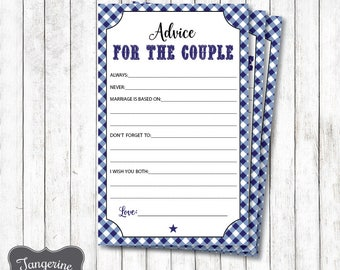 I do BBQ Advice for the Couple Cards, Navy Blue, I do BBQ Advice for the Bride and Groom, I do Bbq Couples Shower Game, Printable PDF File