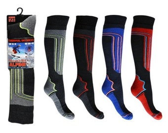 4 pairs mens / boys thermal ski snowboarding , hiking , horse riding socks