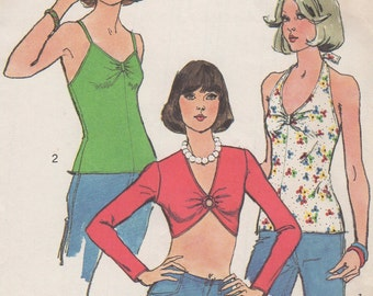 Bust 34-1974 Misses' Pullover Tops Simplicity 6465 Size 12 Size for Stretch Knits Only