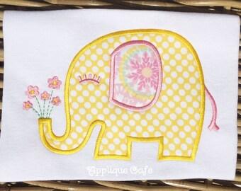 995 Elephant Machine Embroidery Applique Design