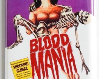 Blood Mania Movie Poster Fridge Magnet
