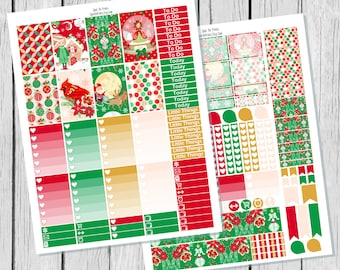 Classic Christmas Planner Sticker Happy Planner Printable / Happy Planner Sticker Printable / Printable Planner Stickers