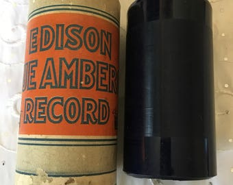 Vintage Edison Blue Amberol 4 minute Cylinder Record 1782 Garland Of Old Fashioned Roses Manuel Romain