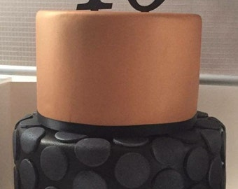Acrylic Number Cake Toppers