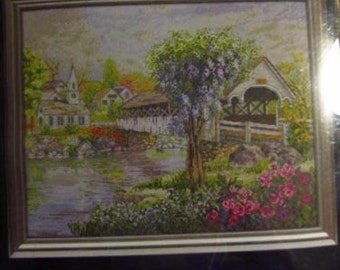 The Covered Bridge Counted Cross Stitch Kit