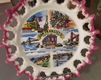 San Francisco Souvenir Plate