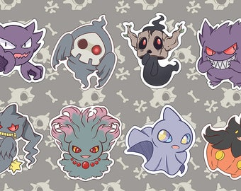 Ghost Type Pokemon Styckers