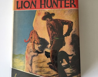 Vintage Zane Grey book, western theme, decor