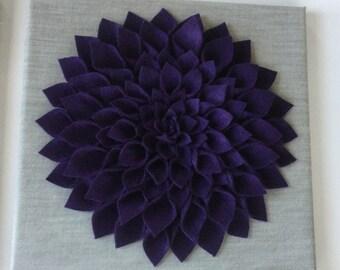 Deep purple Dahlia! 12X12 inches