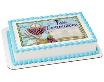 FIRST COMMUNION  edible cake topper, first communion cake, comunion primera, first communion cookies, religious cake topper, first communion