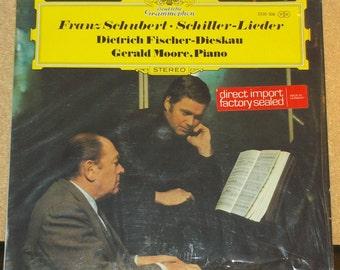 Franz Schubert Schiller Lieder Fischer Dieskau Gerald Moore Deutsche Grammophon Classical Vinyl Record Album