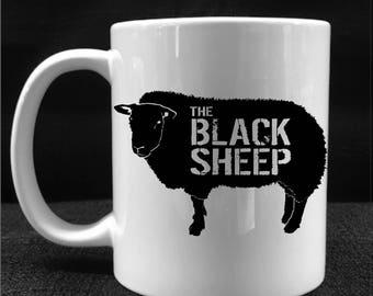 MUG, COFFEE CUP, The Black Sheep, Drinkware, Gift