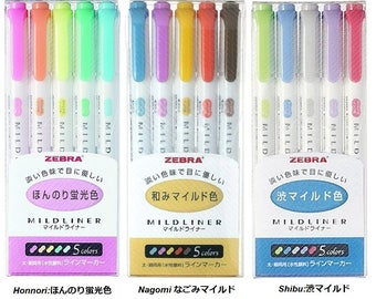 ZEBRA Mildliner Soft Color 15 colors Double-Sided Highlighter Pen SET NEW