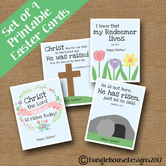 Dynamic image inside free printable religious easter cards