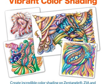 3D Tangle Vibrant Color Shading - Download PDF Tutorial Ebook