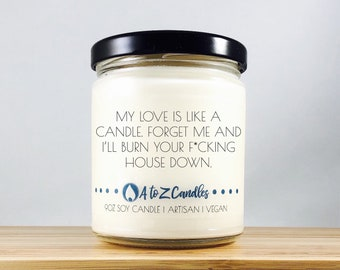 Anniversary Gifts for Men Gift for Him Funny Gift for Him Funny Anniversary Gifts Gift for Husband Gift for Men My Love is Like a Candle