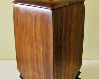 Urn, Wood Urn, Adult Urn, Walnut Keepsake, Funeral Urn, One Of A Kind, Cremation Ashes