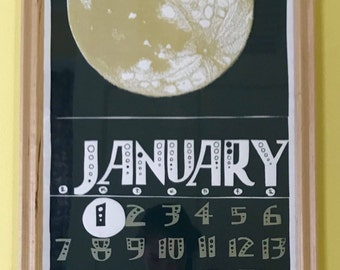 Frame ~ Clear finish on hard maple wood frame with a Styrene face for Calendar~No print included!