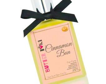 CINNAMON BUN Fragrance Oil Based Perfume 1oz - Vegan - Paraben Free - Gluten Free - Handmade