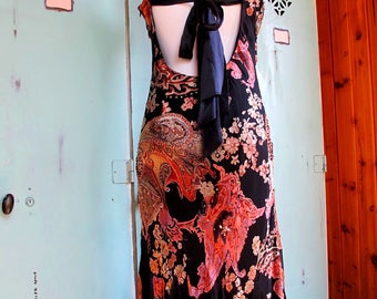 Vintage Sue Wong Stunning Beaded Silk Gown 1990's 1920's Style