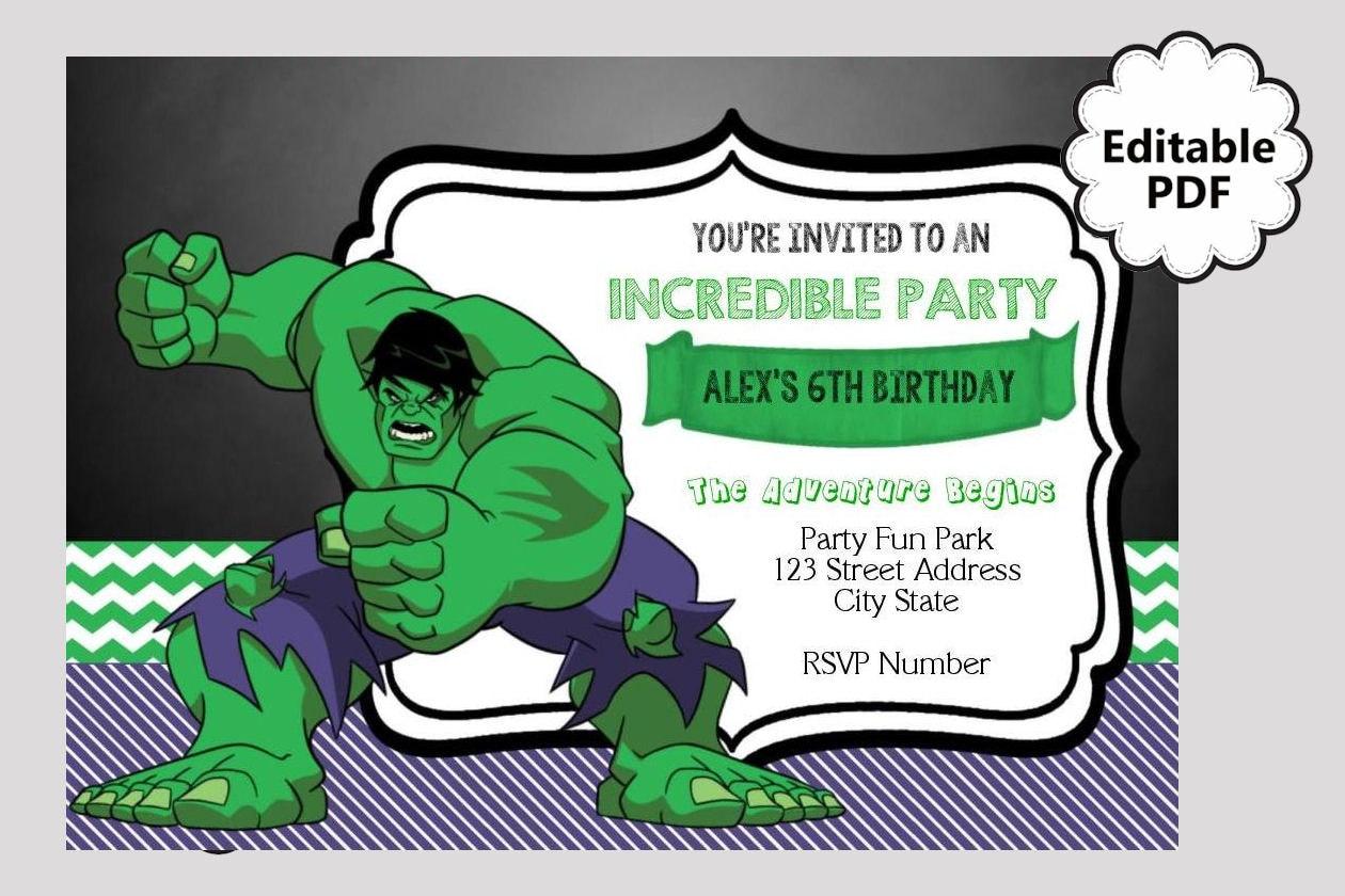 Hulk Party Invitations Gallery - invitation templates free download