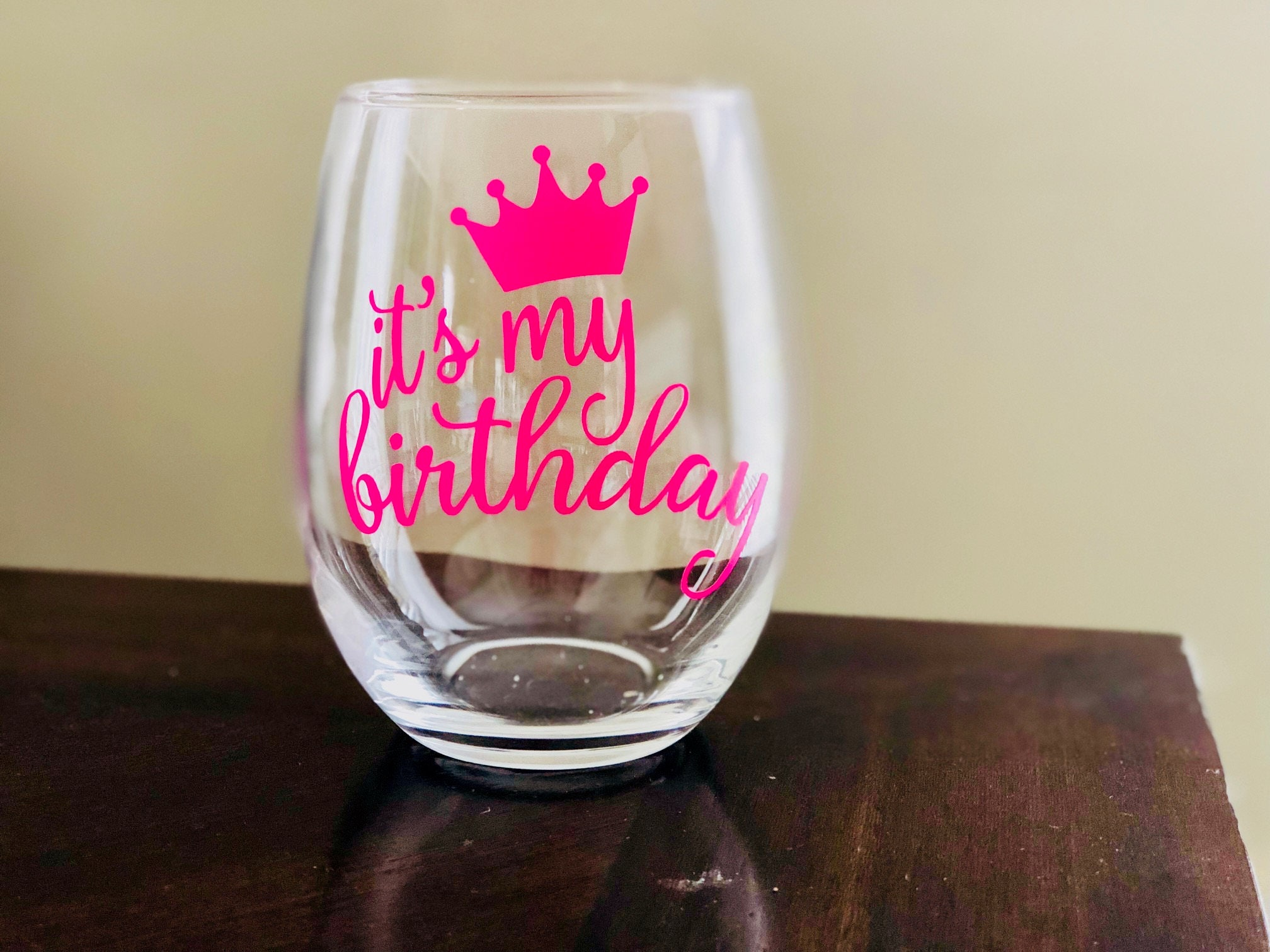 Birthday Wine Glass Stemless Wine Glass Gift Wine Glass