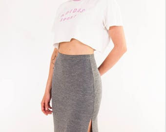 Vintage Space Dye Midi Skirt