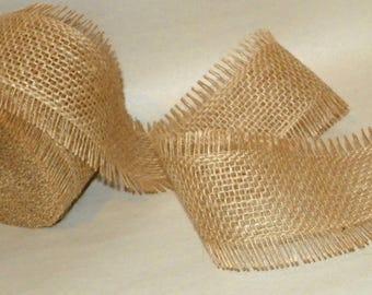 Burlap Ribbon a 4 PACK of 2 1/2 Inch Wide Frayed Burlap Ribbon, 40 Yards, 120 Feet