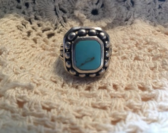 Turquoise's and Sterling  Silver  Ring