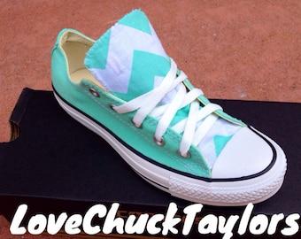 Chevron Converse Chuck Taylor Shoes Mint
