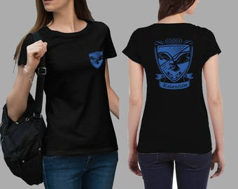 Vintage style ravenclaw House varsity shirt, Harry Potter #J