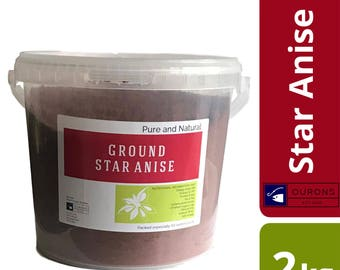 2kg Star Anise Finest Powder - Pure Aniseed Aroma in a Bucket - Ground in the UK